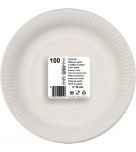 100 ASSIETTES 18 CM BLANC