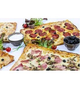 PLAQUE PIZZA FLAMMENKUCHE 80P