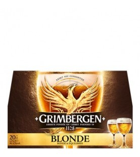 BIERE GRIMBERGEN BLOND 20X25CL