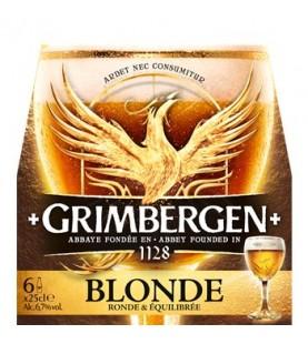 BIERE GRIMBERGEN BLONDE 6X25CL