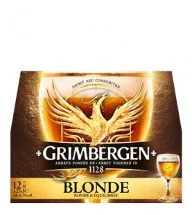 BIERE GRIMBERGEN BLONDE 12X25C